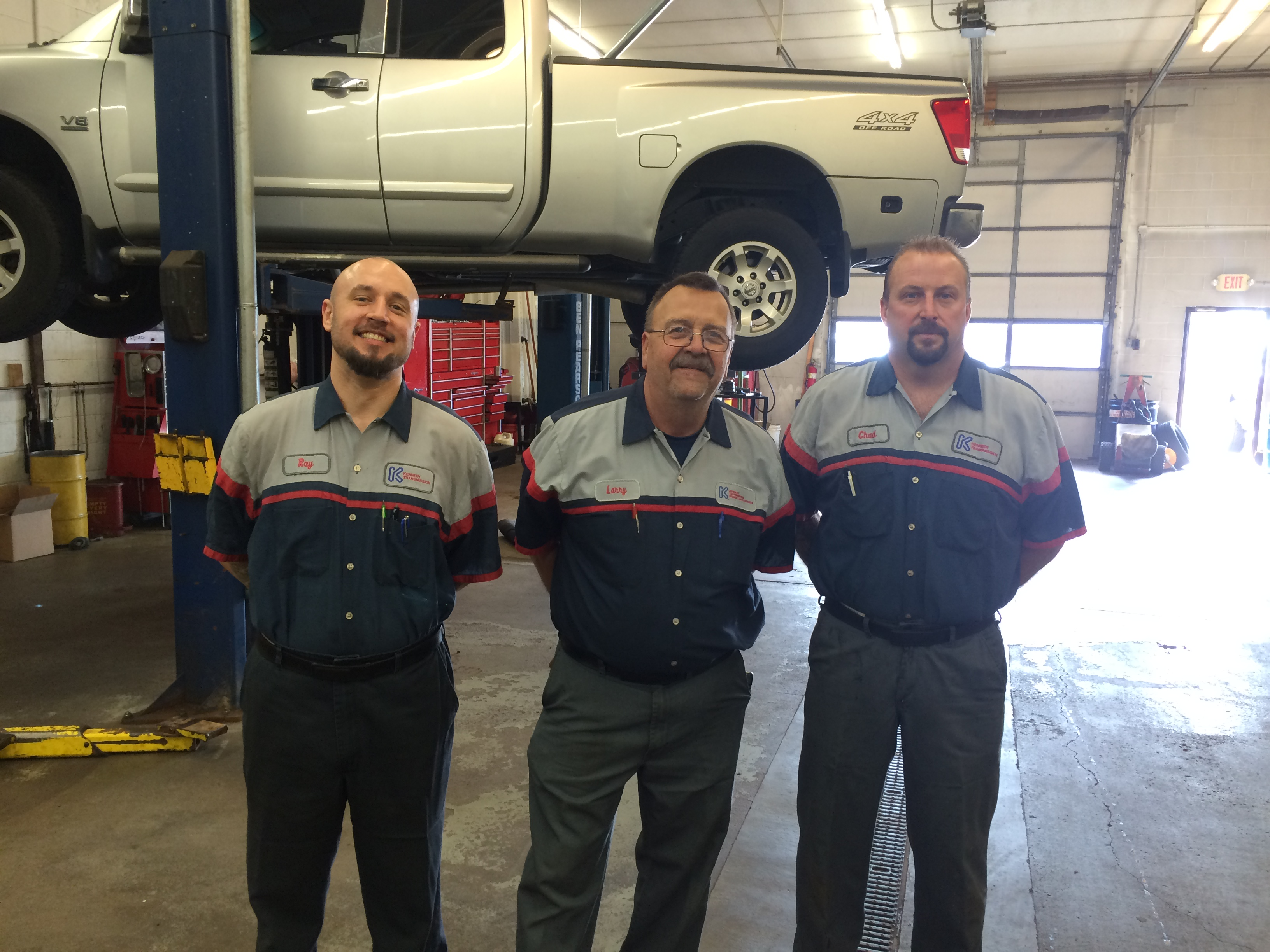 Kennedy Transmission - Bloomington, MN Shop - Ray Wetch, Larry Grahn, & Chad Exum
