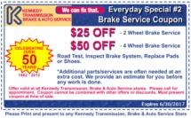 6.17 Coupon Brake Service
