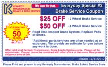 12.17 Coupon Brake Service