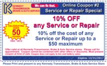 12.17 Coupon Service or Repair